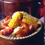 Beer-Boiled Shrimp with Fresh Corn