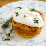 Corn Spoon Bread with House Crème Fraiche & Chives