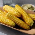 Corn on the Cob with Herbed Goat Cheese Spread