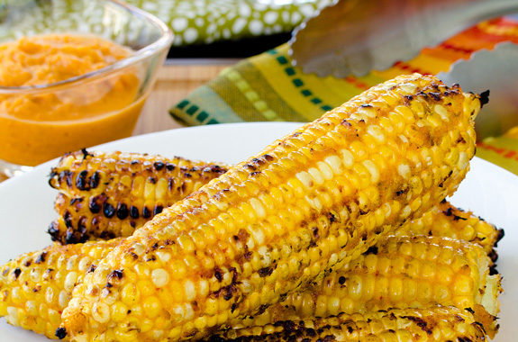 Kimchi Grilled Corn on the Cob