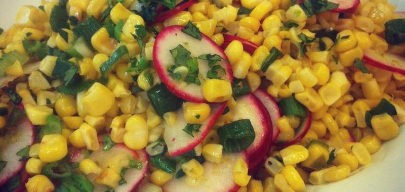 Spicy Corn Radish Relish