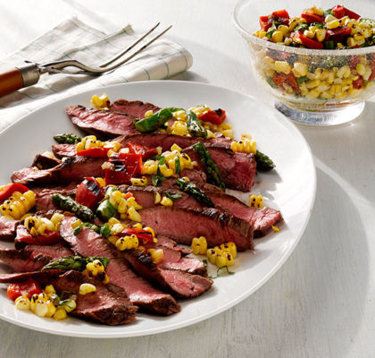 http://sunshinesweetcorn.com/wp-content/uploads/flank-steak-with-corn-asparagus-salad