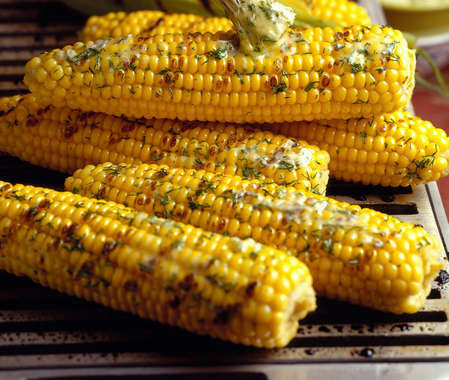 Fresh Corn with Rosemary-Garlic Oil