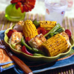 Roasted Jerk Fish and Corn