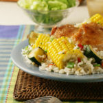 Sweet Corn, Chicken and Rice Skillet