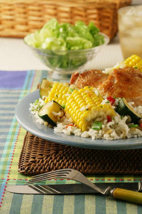 Sweet corn chicken and rice skillet sunshine sweet corn sweet corn chicken and rice skillet forumfinder Gallery