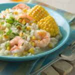 Grilled Sweet Corn and Shrimp Risotto