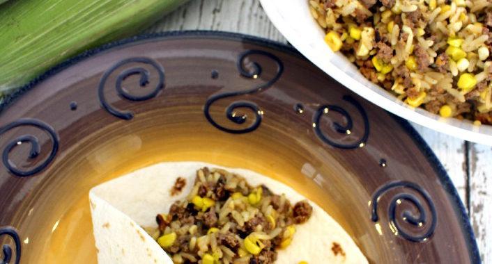 Sweet Corn Beef Burrito